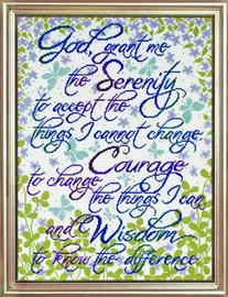 Serenity Prayer Floral Cross Stitch Kit By Design Works