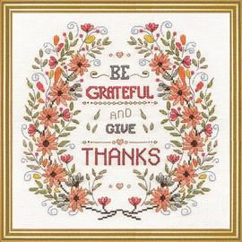 Be Grateful Cross Stitch Kit by Design Works