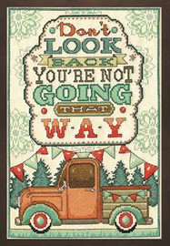 Don't Look Back Cross Stitch Kit by Design Works