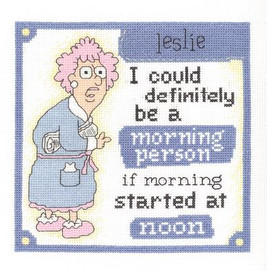 Morning Person Cross Stitch Kit by Janlynn