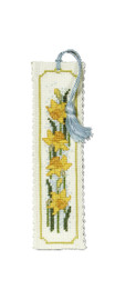 Daffodil Bookmark Cross Stitch Kit by Textile Heritage