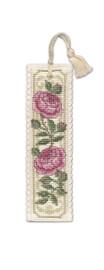Damask Rose Bookmark Cross Stitch Kit by Textile Heritage