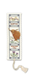 Highland Cow Bookmark Cross Stitch Kit by Textile Heritage