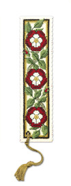 Heraldic Rose Bookmark Cross Stitch Kit by Textile Heritage