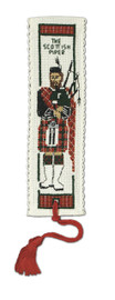Scottish Piper Bookmark Cross Stitch Kit by Textile Heritage