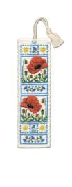 Poppy Meadow Bookmark Cross Stitch Kit by Textile Heritage