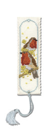 Robins Bookmark Cross Stitch Kit by Textile Heritage