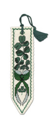 Shamrock Bookmark Cross Stitch Kit by Textile Heritage