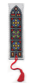 Stained Glass Window Bookmark Cross Stitch Kit by Textile Heritage