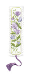 Sweet Peas Bookmark Cross Stitch Kit by Textile Heritage
