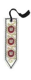 Tudor Rose Bookmark Cross Stitch Kit by Textile Heritage