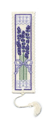 Victorian Lavender Bookmark Cross Stitch Kit by Textile Heritage