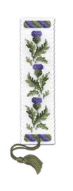 Victorian Thistles Bookmark Cross Stitch Kit by Textile Heritage