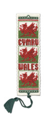 Welsh Dragon Bookmark Cross Stitch Kit by Textile Heritage
