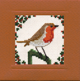 Robin Miniature Card Cross Stitch Kit by Textile Heritage