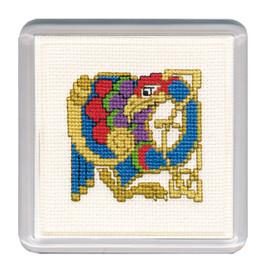 Celtic Bird Coaster Cross Stitch Kit by Textile Heritage