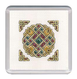 Celtic Jewel Coaster Cross Stitch Kit by Textile Heritage