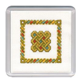 Celtic Knot Coaster Cross Stitch Kit by Textile Heritage
