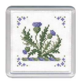 Victorian Thistles Coaster Cross Stitch Kit by Textile Heritage