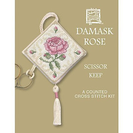 Damask Rose Scissor Keep Cross Stitch Kit by Textile Heritage