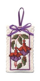 Fuchsias Sachet Cross Stitch Kit by Textile Heritage