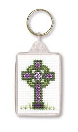 Celtic Cross Keyring Cross Stitch Kit by Textile Heritage