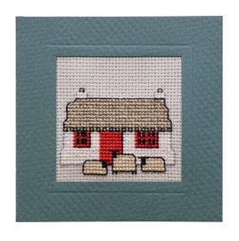 Crofthouse Miniature Card Cross Stitch Kit by Textile Heritage