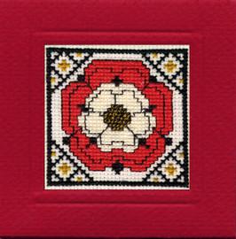 Tudor Rose Miniature Card Cross Stitch Kit by Textile Heritage