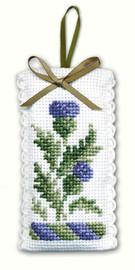 Victorian Thistles Sachet Cross Stitch Kit by Textile Heritage