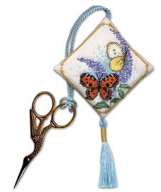Butterflies & Buddleia Scissor Keep Cross Stitch Kit by Textile Heritage