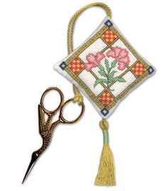 Medieval Garden Scissor Keep Cross Stitch Kit by Textile Heritage
