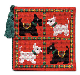 Scotties & Westies Needle Case Cross Stitch Kit by Textile Heritage