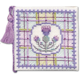Tartan Thistles Needle Case Cross Stitch Kit by Textile Heritage