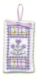 Tartan Thistles Sachet Cross Stitch Kit by Textile Heritage