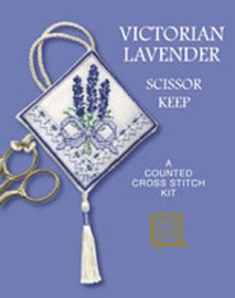 Victorian Lavender Scissor Keep Cross Stitch Kit by Textile Heritage