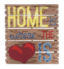 Home Is Where The Heart Is Plastic Canvas Kit