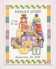 Toys Birth Sampler Cross Stitch Kit by Design Works