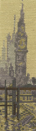 Monet - The Thames below Westminster Bookmark Cross Stitch Kit By DMC