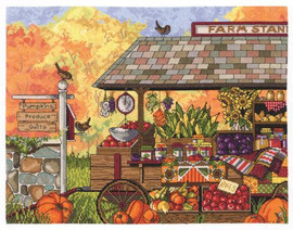 Farm Stand Cross Stitch Kit by Janlynn