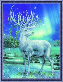 White Stag Cross Stitch Kit by Riolis