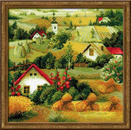 Serbian Landscape Cross Stitch Kit by Riolis