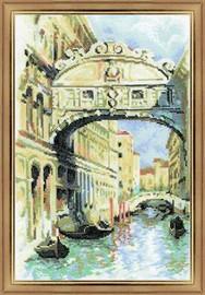 Venice, Bridge of Sighs Cross Stitch Kit by Riolis