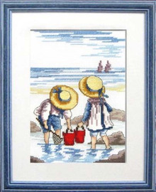 Rock Pooling Cross Stitch kit By Faye Whittaker
