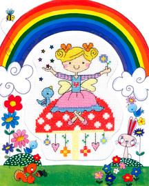 Fairy Kids cross Stitch Kit By Bothy Threads