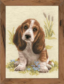 Basset Hound Puppy Cross Stitch Kit by Riolis