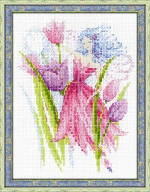 Spring Breeze Fairy Cross Stitch Kit by Riolis