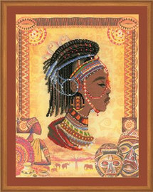 African Princess Cross Stitch Kit by Riolis