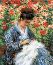 Camille Monet Cross Stitch Kit by Riolis