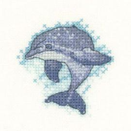 Dolphin Cross Stitch Kit By Heritage