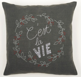 C'est La Vie Embroidery Cushion Kit By Vervaco